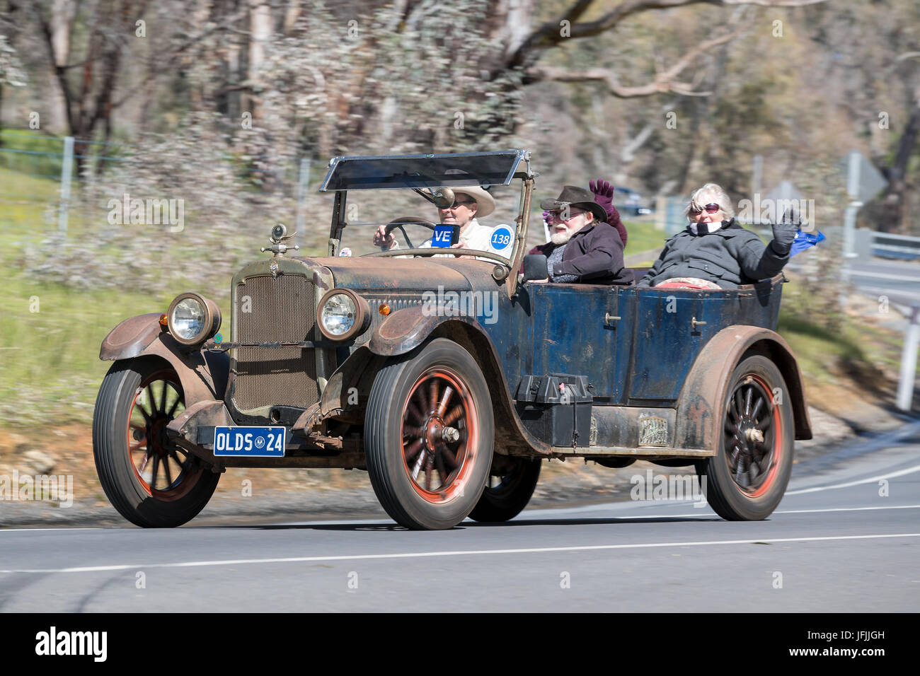 Oldsmobile Cars Stock Photos Images Alamy 1941 Club Coupe Vintage 1924 30 Tourer Driving On Country Roads Near The Town Of Birdwood South