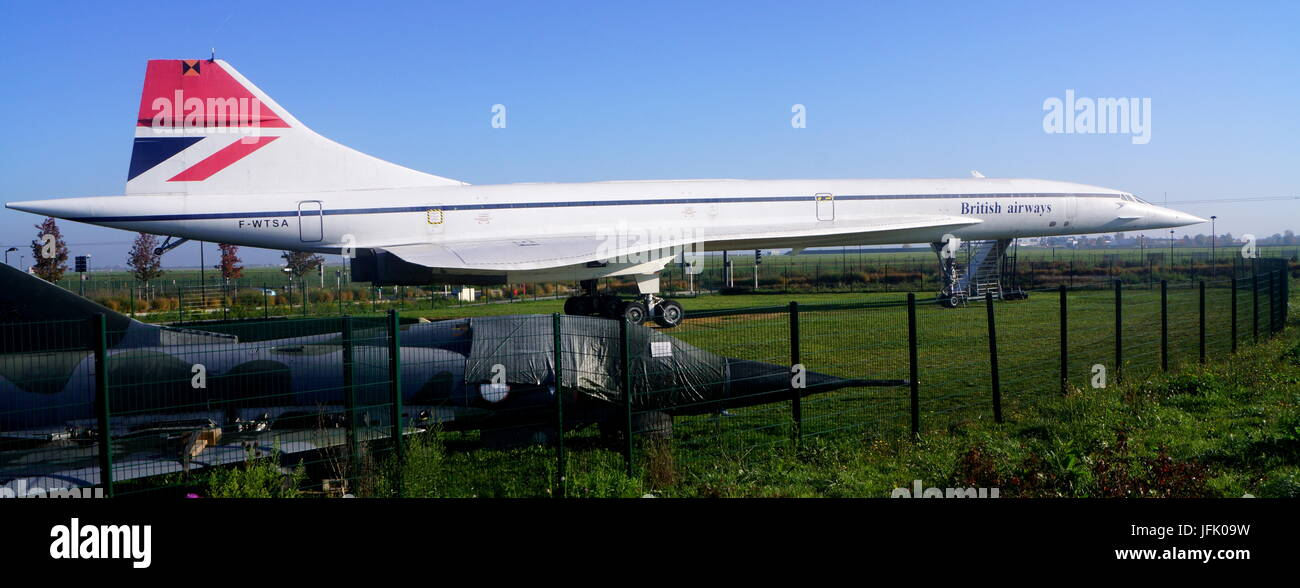 Supersonic Aircraft Concorde - Stock Image