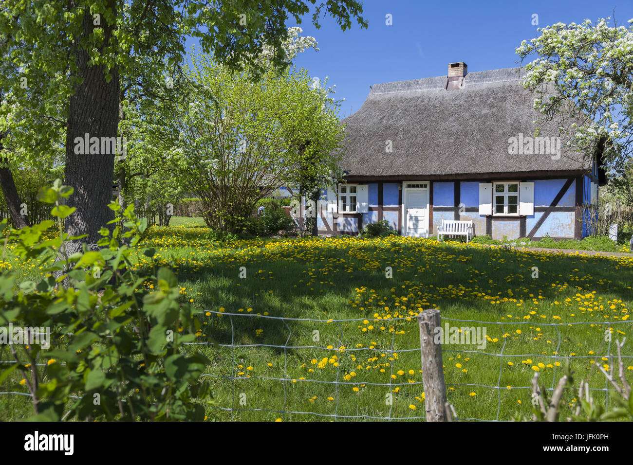 house on the island of usedom, germany Stock Photo
