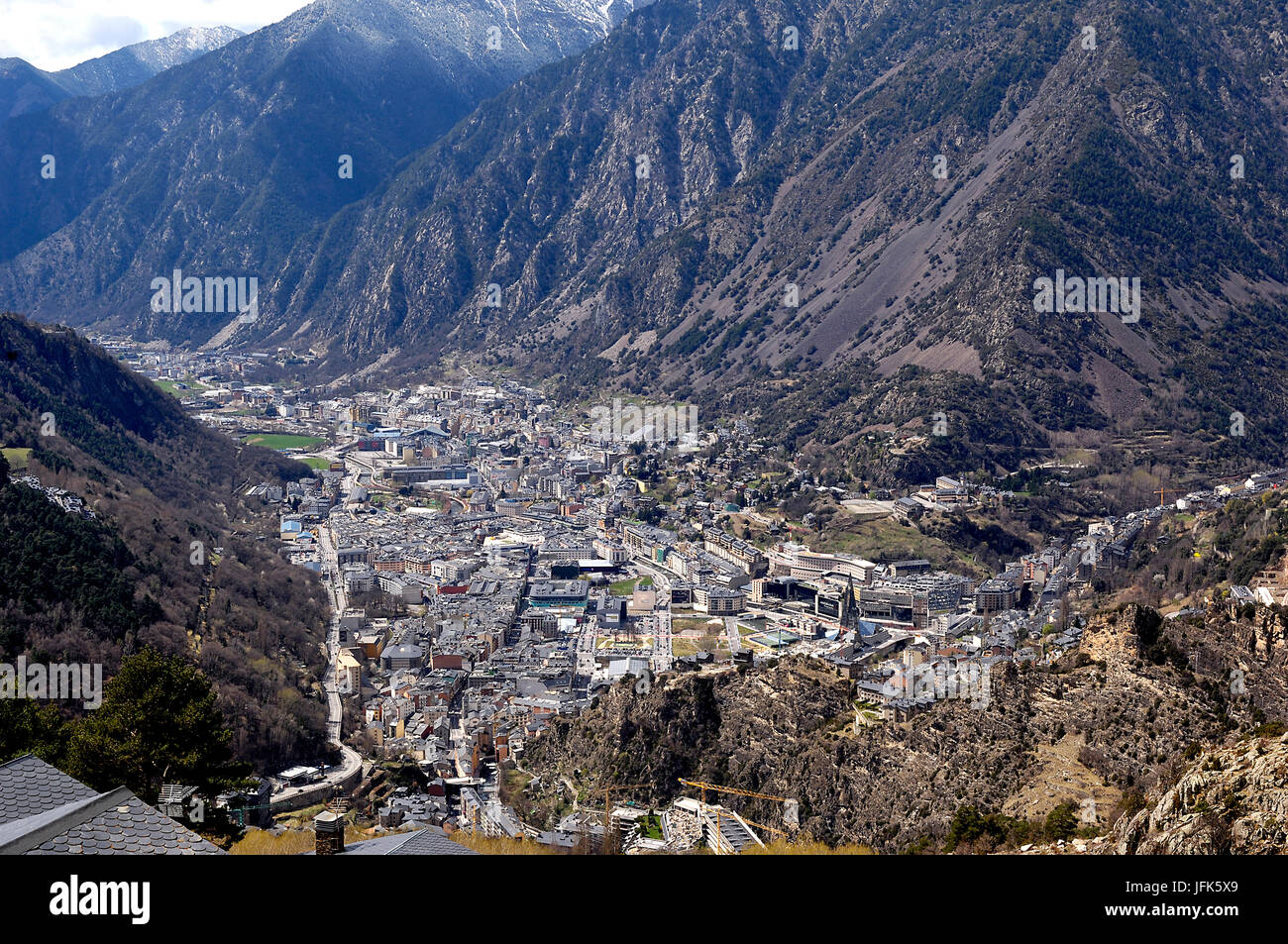 Andorra la Vella, Andorra, the country of the Pyrenees - Stock Image