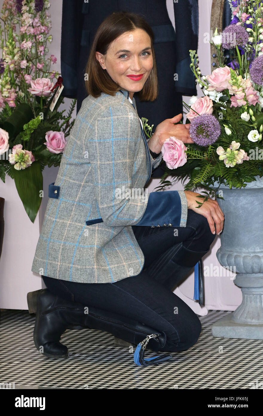 May 22, 2017 - Victoria Pendleton attending Chelsea Flower Show 2017 Press Day, Royal Hospital Chelsea  in London, - Stock Image