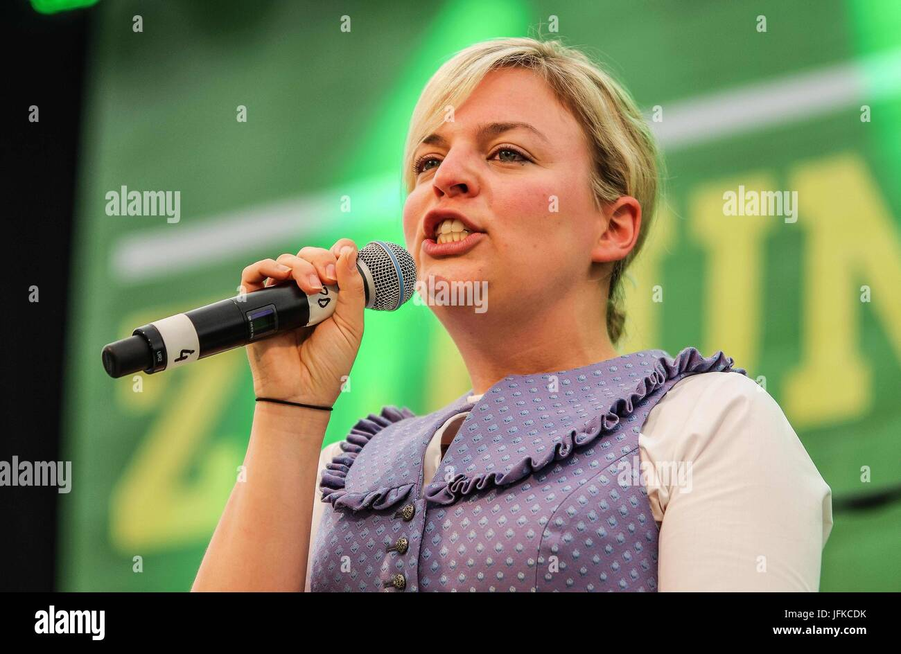 Tutzing, Bayern, Germany. 1st July, 2017. Katharina Schulze of the Bavarian Landtag (Parliament). Green politician Stock Photo