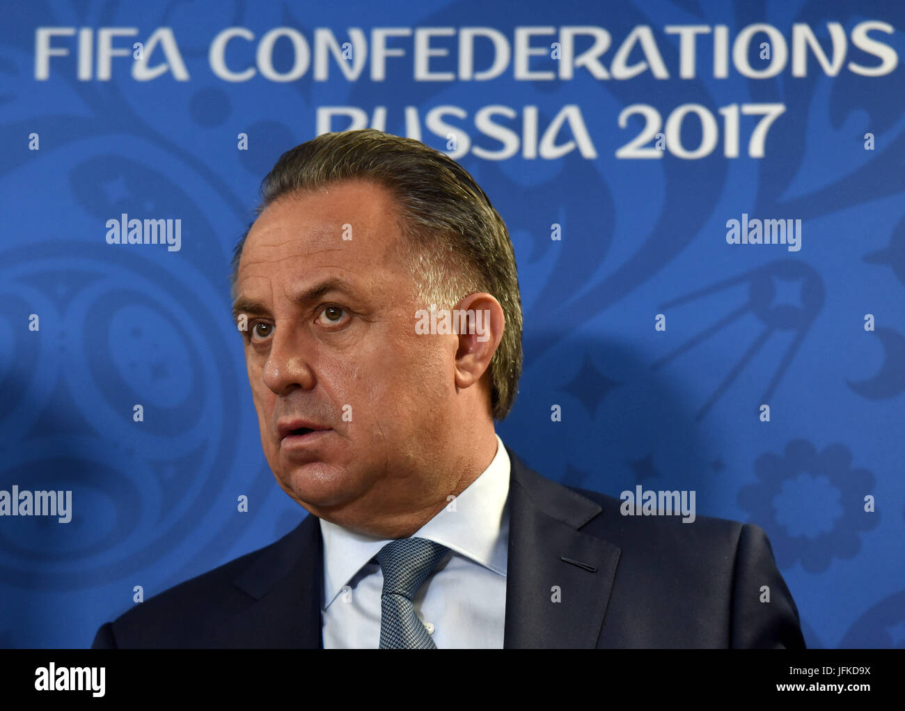 St. Petersburg, Russia. 1st July, 2017. Russia. St. Petersburg. July 1, 2017. President of the Russian Football - Stock Image