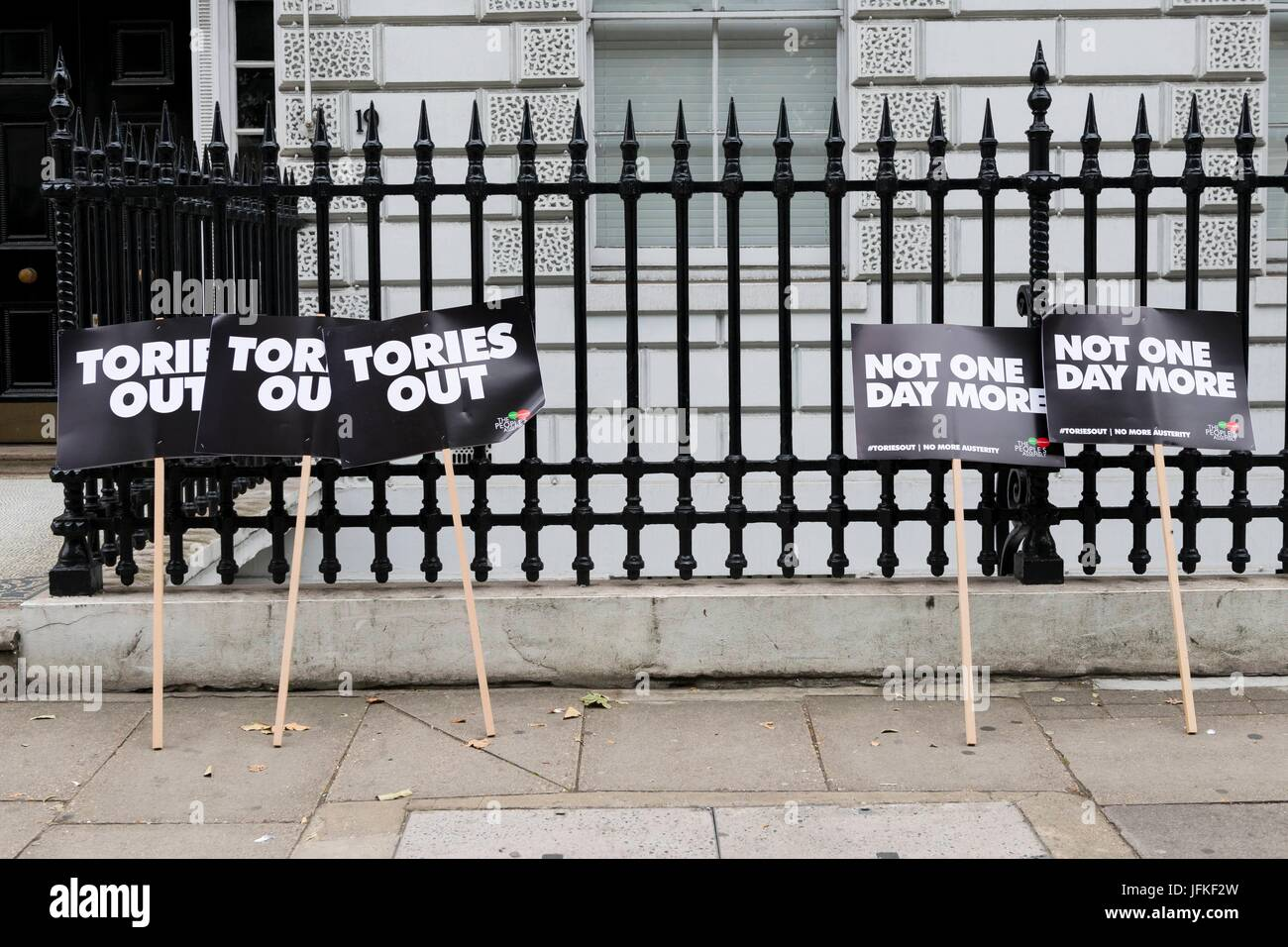 London, United Kingdom Of Great Britain And Northern Ireland. 01st July, 2017. Not One Day More, Tories Out Demonstration. - Stock Image