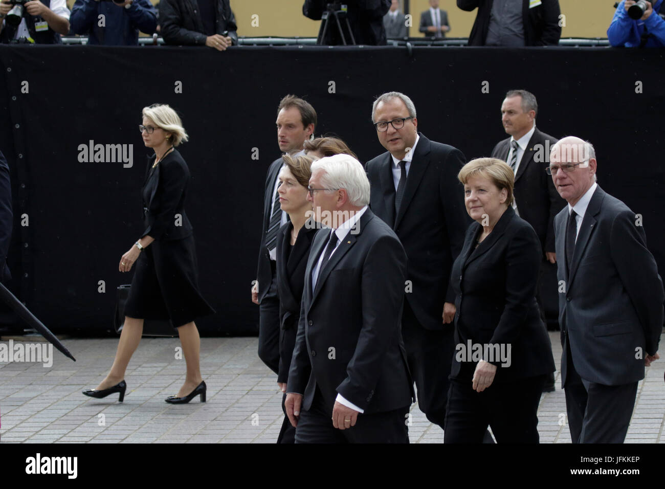 Speyer, Germany. 1st July 2017. Frank-Walter Steinmeier (2nd left), the President of Germany, his wife Elke Budenbender - Stock Image