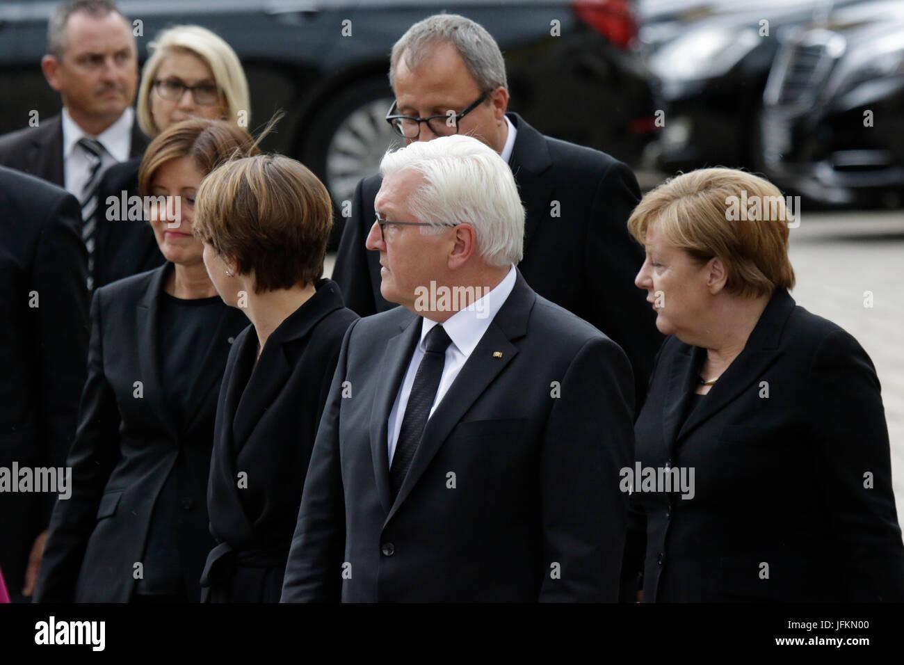 Frank-Walter Steinmeier (centre), the President of Germany, his wife Elke Budenbender (left), Andreas Vosskuhle - Stock Image