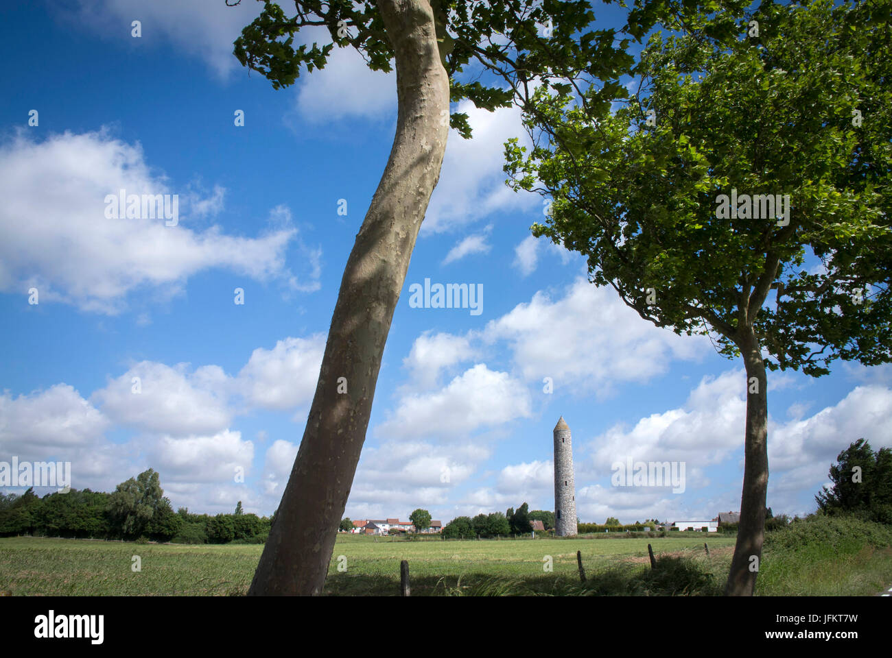 The Island of Ireland Peace Park and its surrounding park, also called the Irish Peace Park or Irish Peace Tower - Stock Image