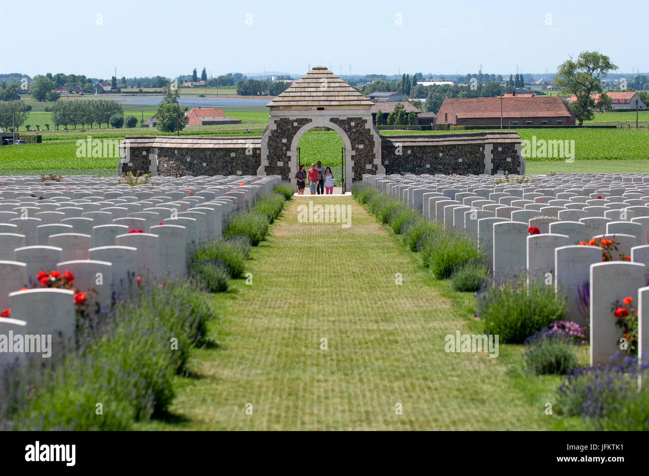 Tyne Cot Commonwealth War Graves Cemetery and Memorial to the Missing is a Commonwealth War Graves Commission (CWGC) - Stock Image