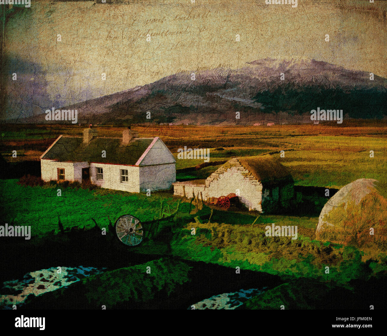 IE - CO.MAYO:  Cottage on Achill Island - Stock Image