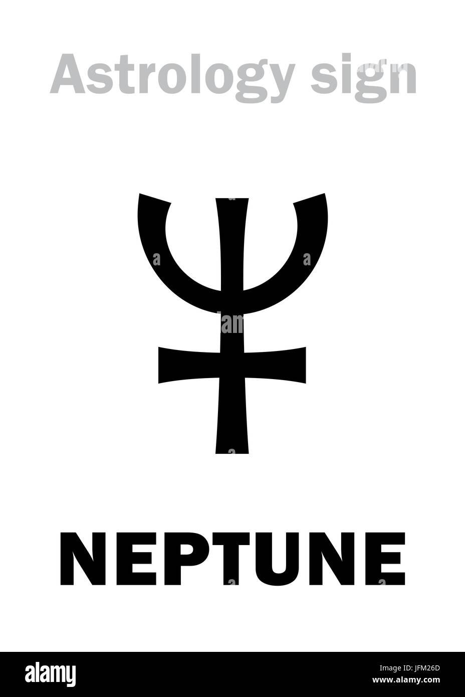 Planet Neptune Symbol Stock Photos Planet Neptune Symbol Stock
