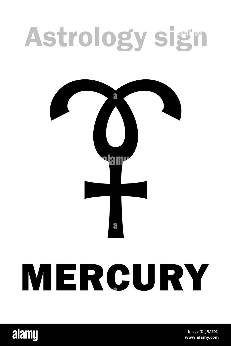 Astrology Planet Mercury Stock Photo 147343777 Alamy