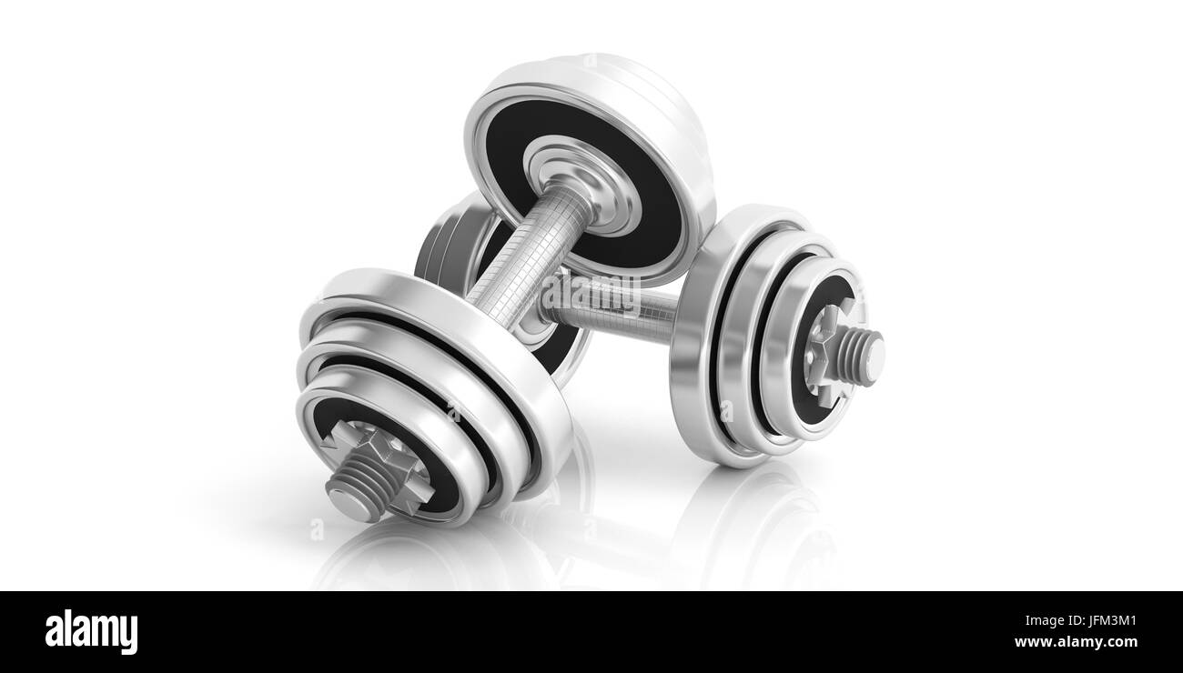 Dumbbells Black and White Stock Photos & Images - Alamy