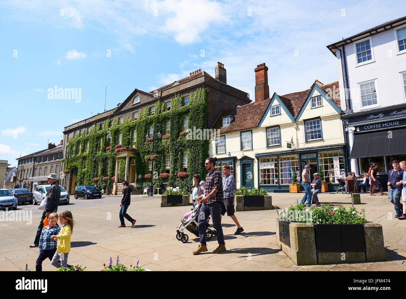Angel Hotel, Angel Hill, Bury St Edmunds, Suffolk, UK - Stock Image