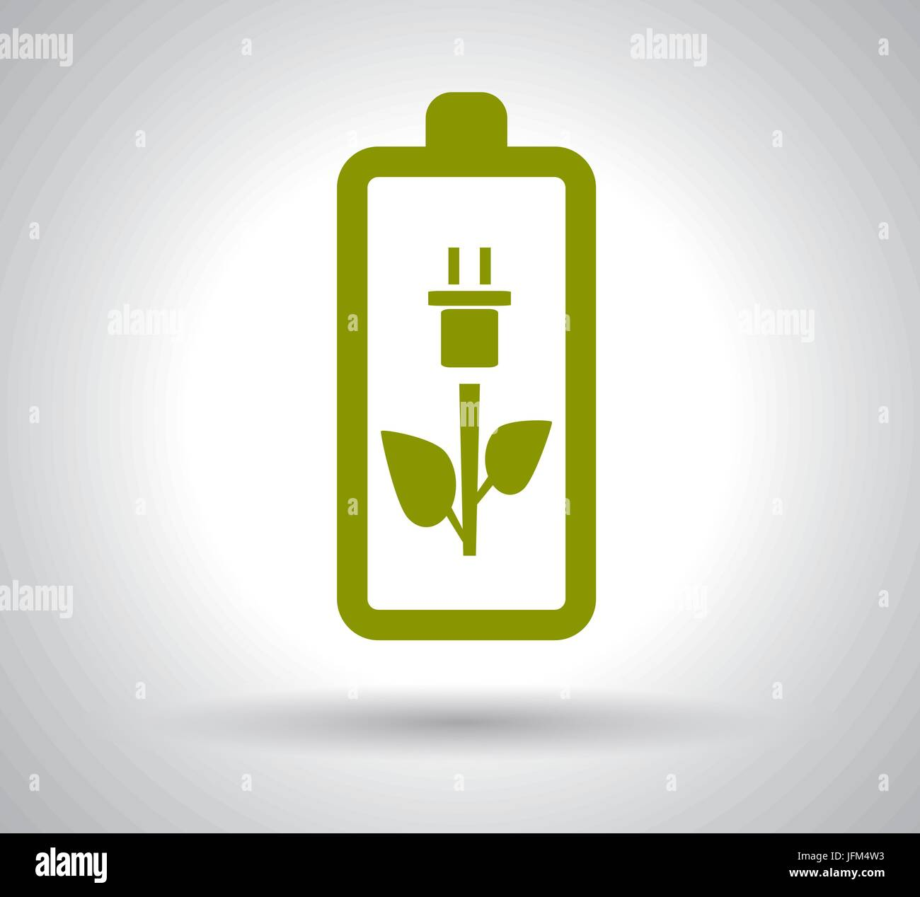 Battery Power Efficiency on white background - Stock Vector