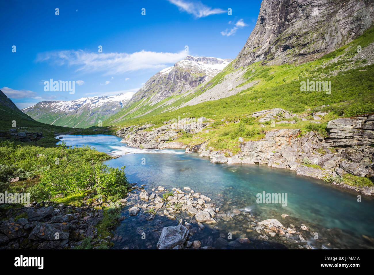 Trollstigen, More og Romsdal county, Norway - Stock Image