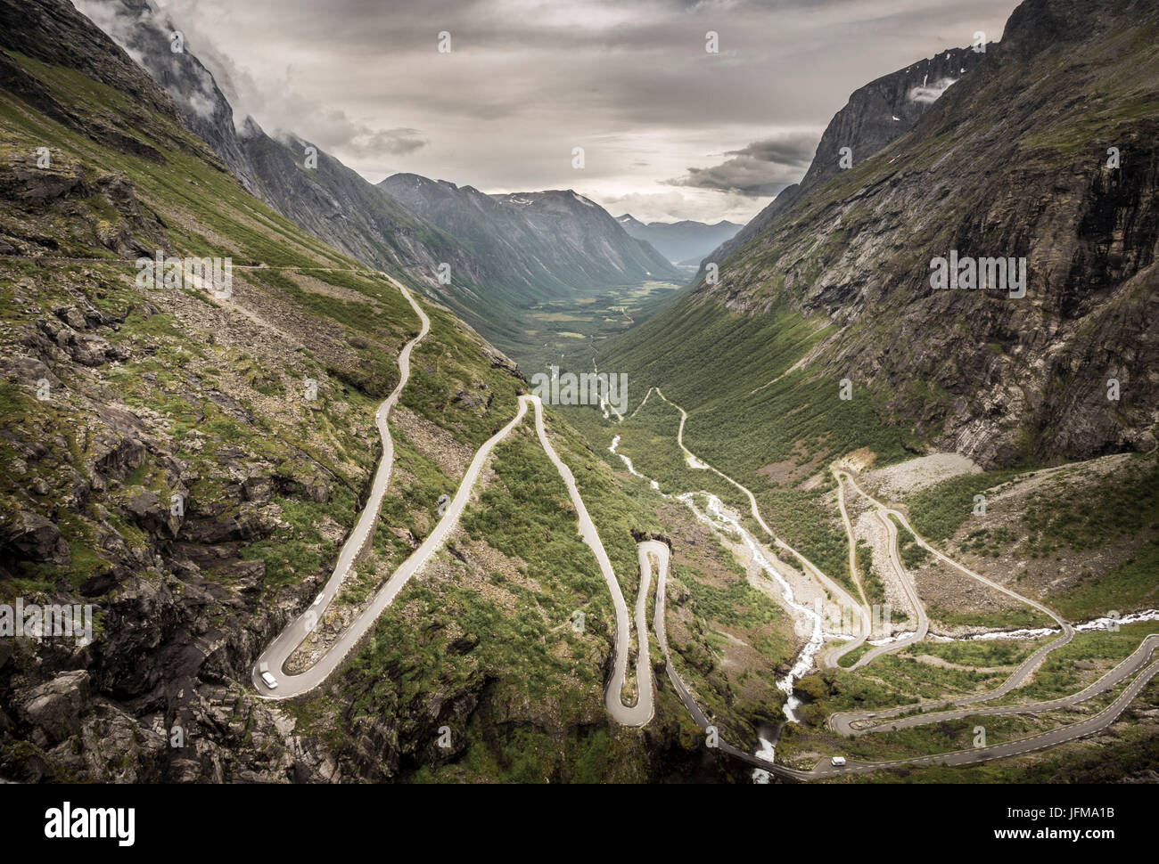 Trollstigen, More og Romsdal county, Norway - Stock Image