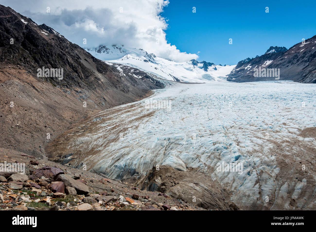 Argentina, Patagonia, El Chalten, Glacier Rio Tunel Inferior - Stock Image