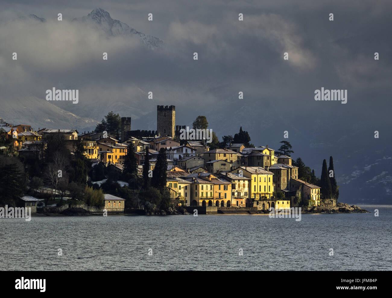 Italy, Lombardy, Como district, Como Lake, Rezzonico, san siro, Stock Photo