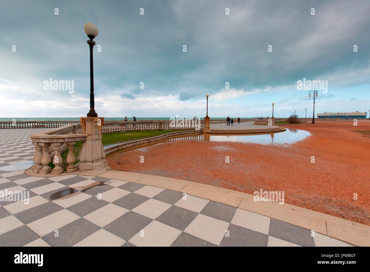 Europe, Italy, Tuscany, Livorno, Mascagni Terrace - Stock Image