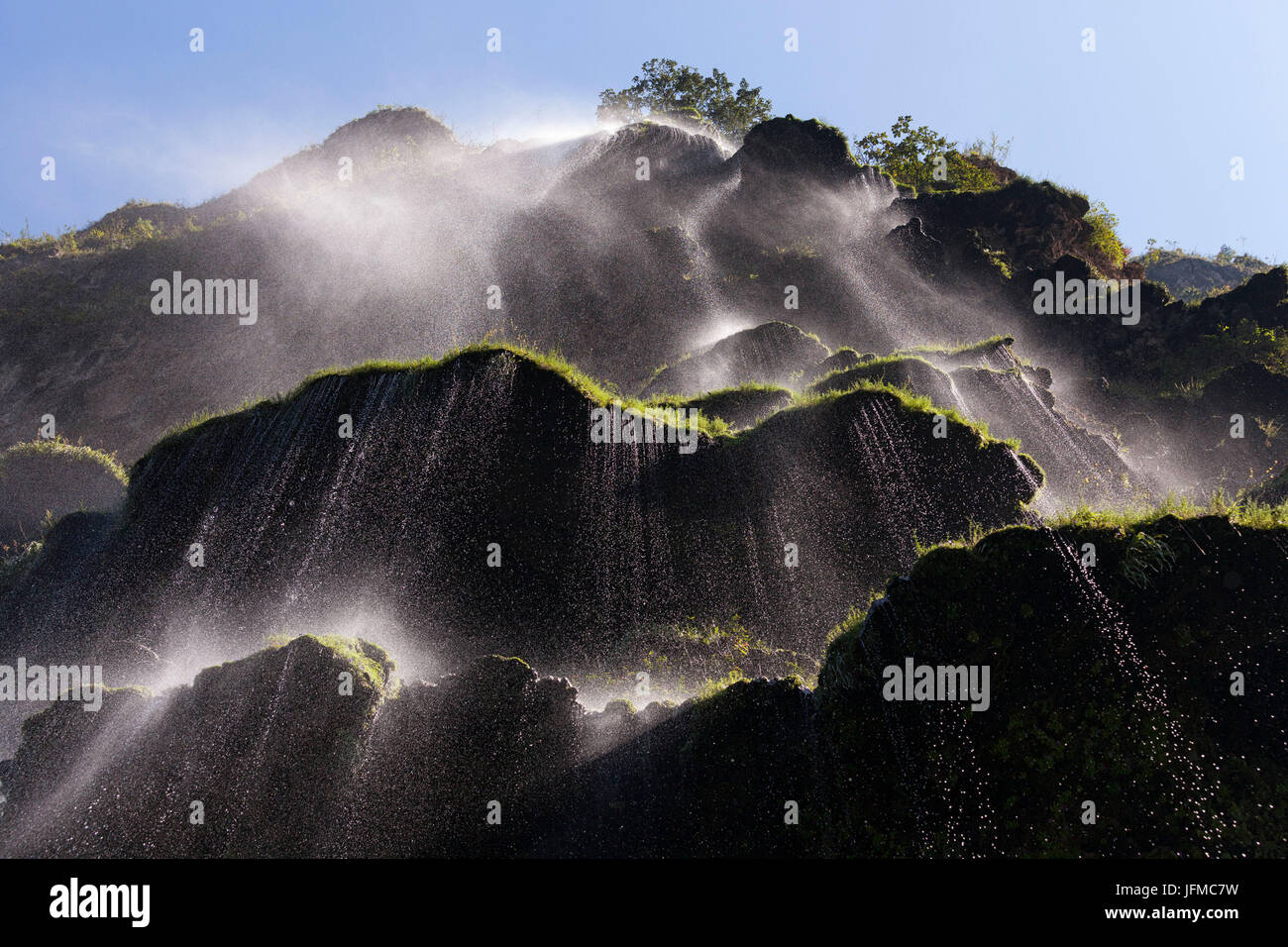 Christmas Tree Waterfall, Sumidero Canyon, Chiapas, Mexico, - Stock Image