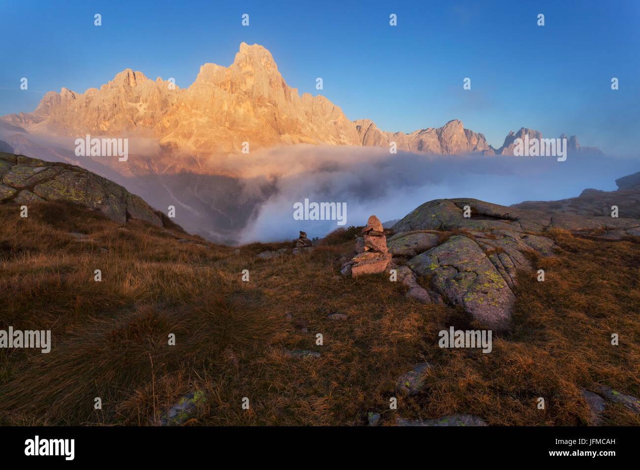 Tognazza, Alps, Lagorai, San Martino di Castrozza, Trentino, Italy, Stock Photo