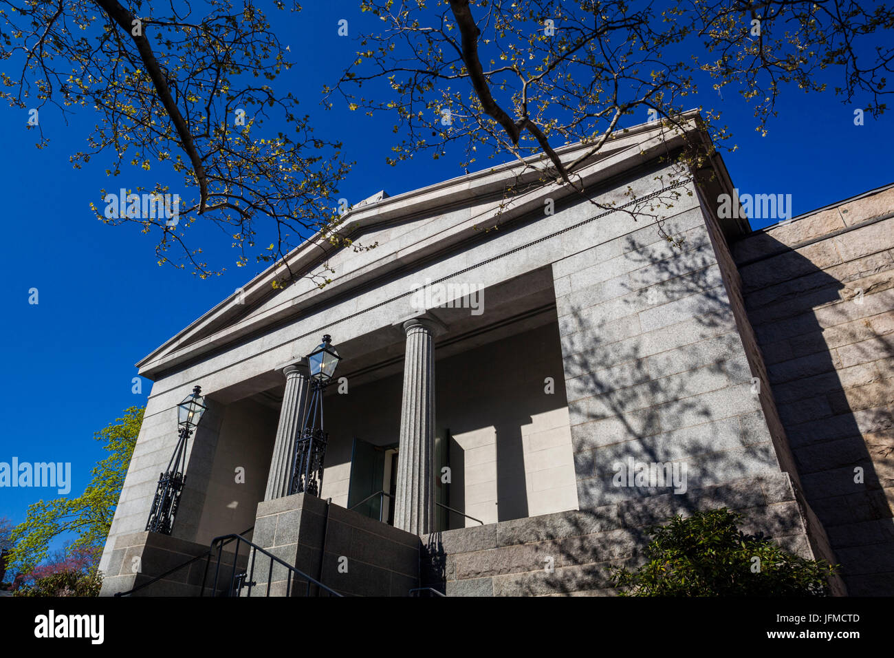 USA, Rhode Island, Providence, Providence Athenaeum, 1836, historic private library, exterior - Stock Image