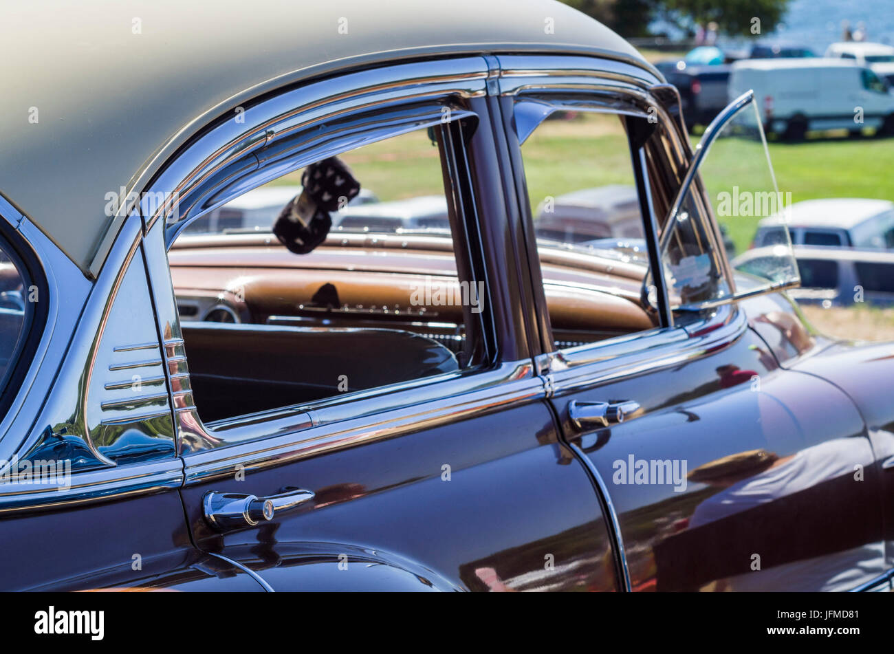 USA, Massachusetts, Cape Ann, Gloucester, classic cars, 1950\'s-car ...