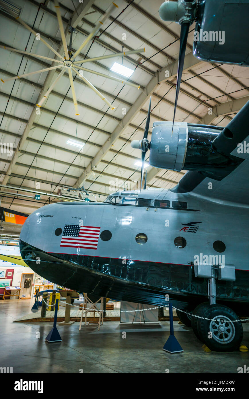USA, Connecticut, Windsor Locks, New England Air Museum, Sikorsky Aircraft is a major Connecticut-based company, - Stock Image
