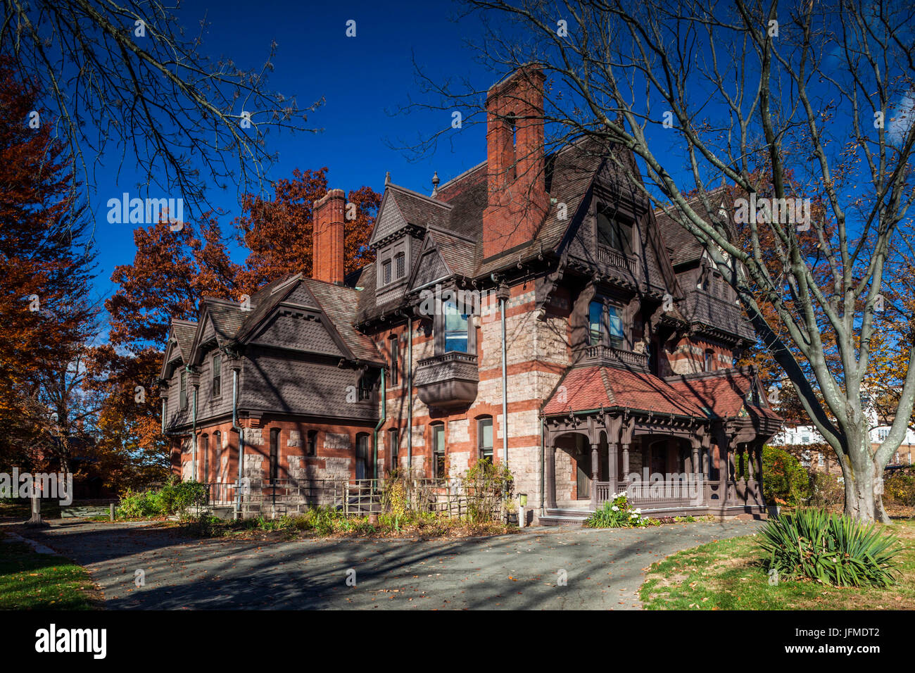 USA, Connecticut, Hartford, Katharine Seymour Day House, former home of Connecticut Historical Preservationist responsible - Stock Image