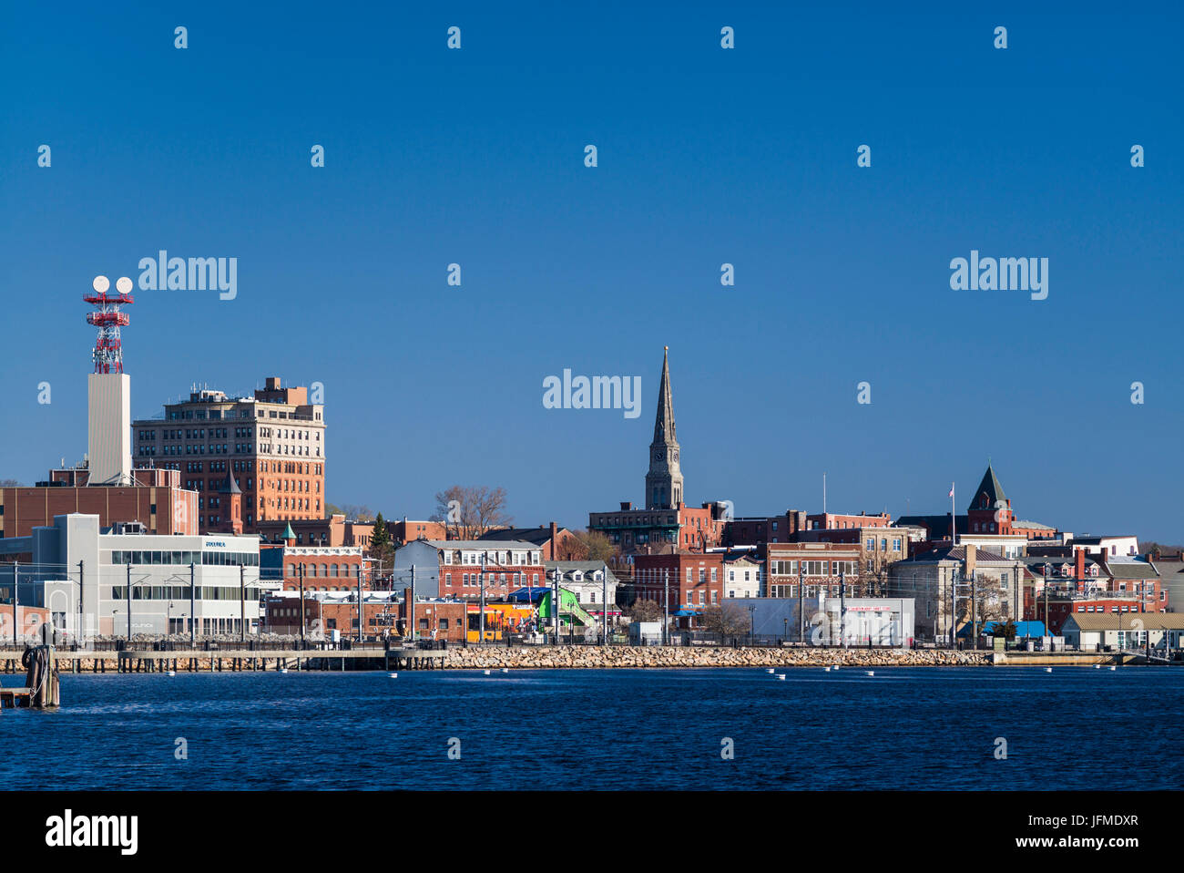 USA, Connecticut, New London, city skyline - Stock Image