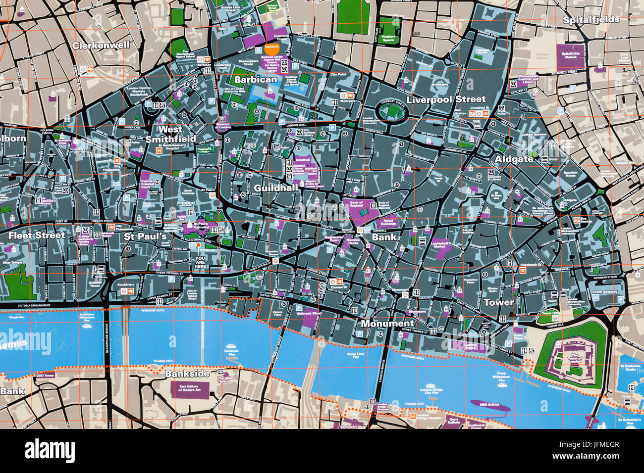 Karte London City.England London City Of London Street Map Stock Photo 147353271