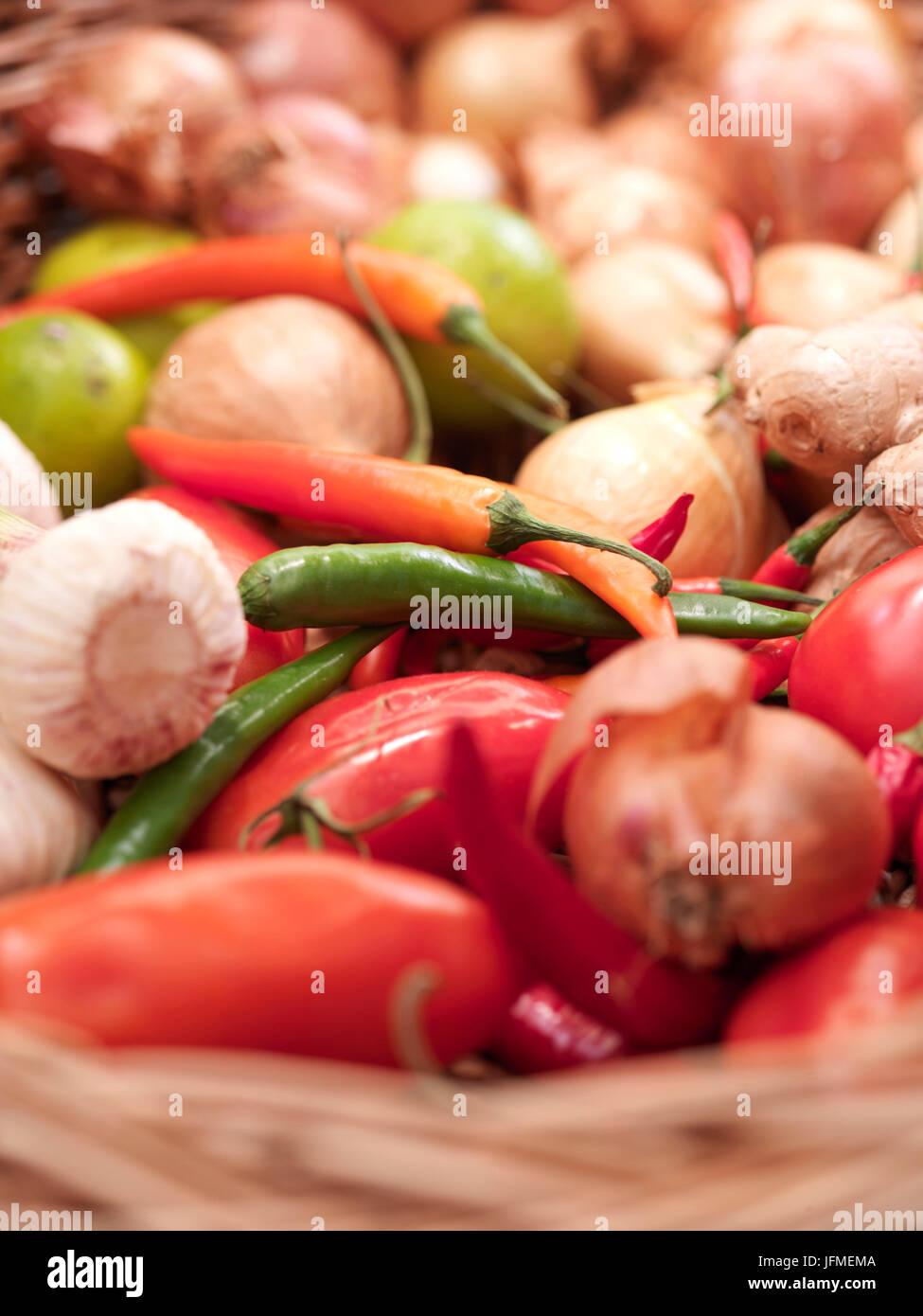 Gemüsekorb Stock Photo