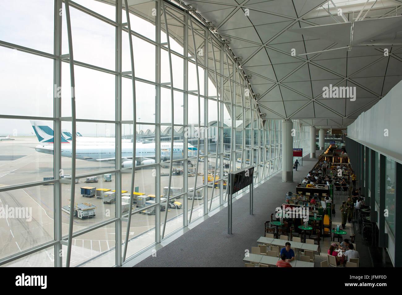 China, Hong Kong, Hong Kong Chek Lap Kok International Airport - Stock Image