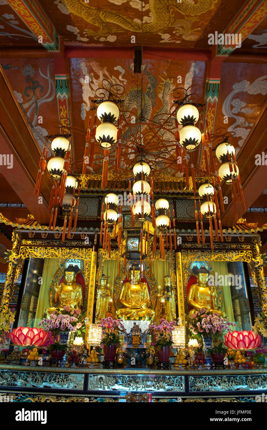 China, Hong Kong, Lantau Island, Po Lin Monastery, Welto Buddhist Temple - Stock Image