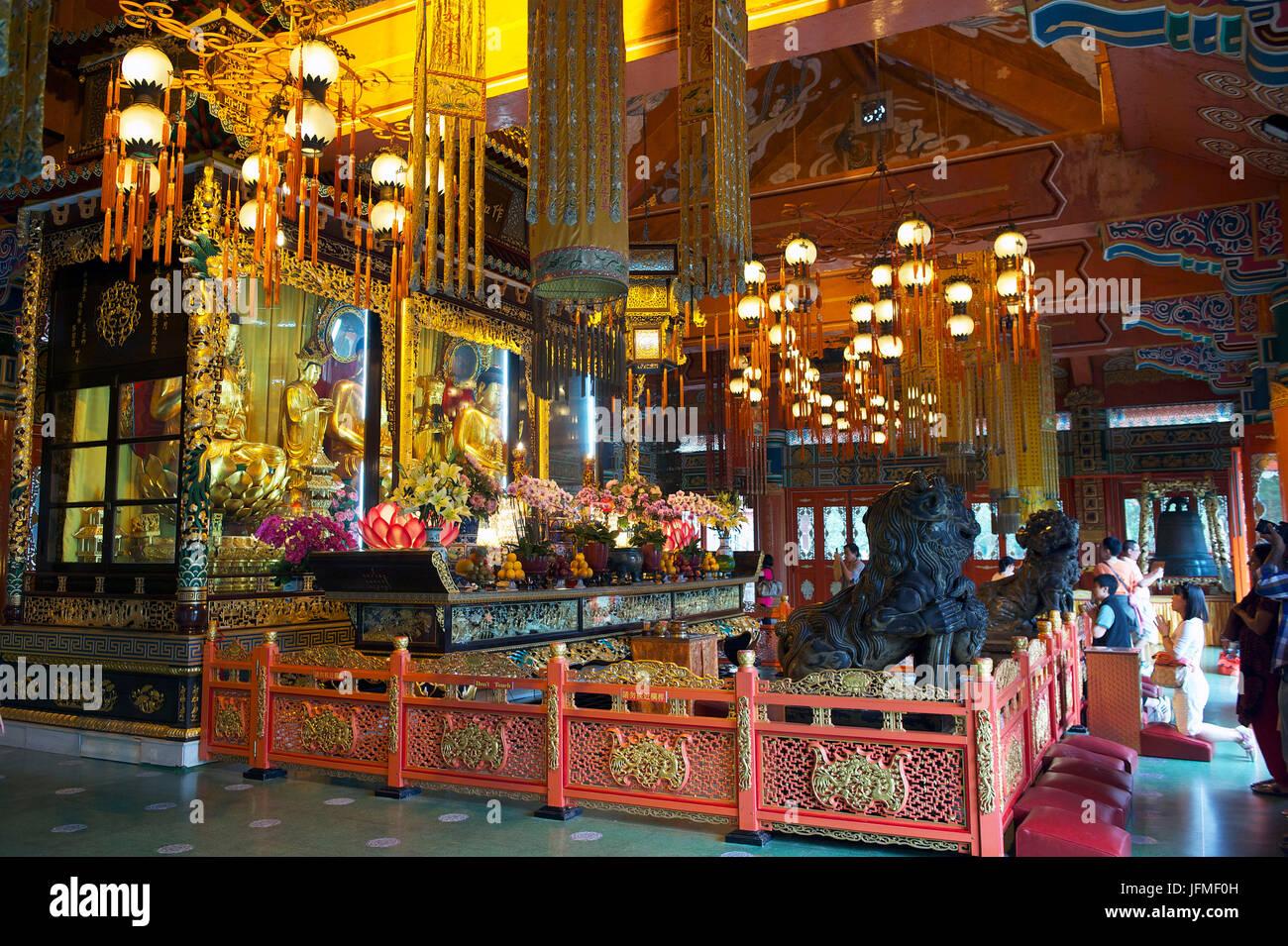 China, Hong Kong, Lantau Island, Po Lin Monastery, Welto Buddhist Temple Stock Photo