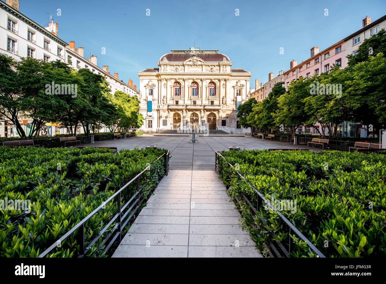 Lyon city in France - Stock Image