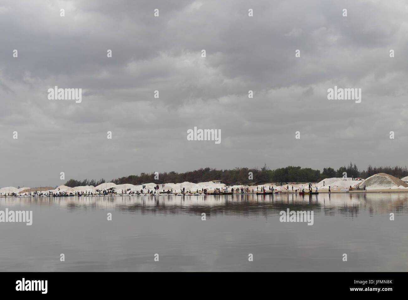 Lake Retba, Pink Lake, Lac Rose, Outside Dakar, Senegal Stock Photo