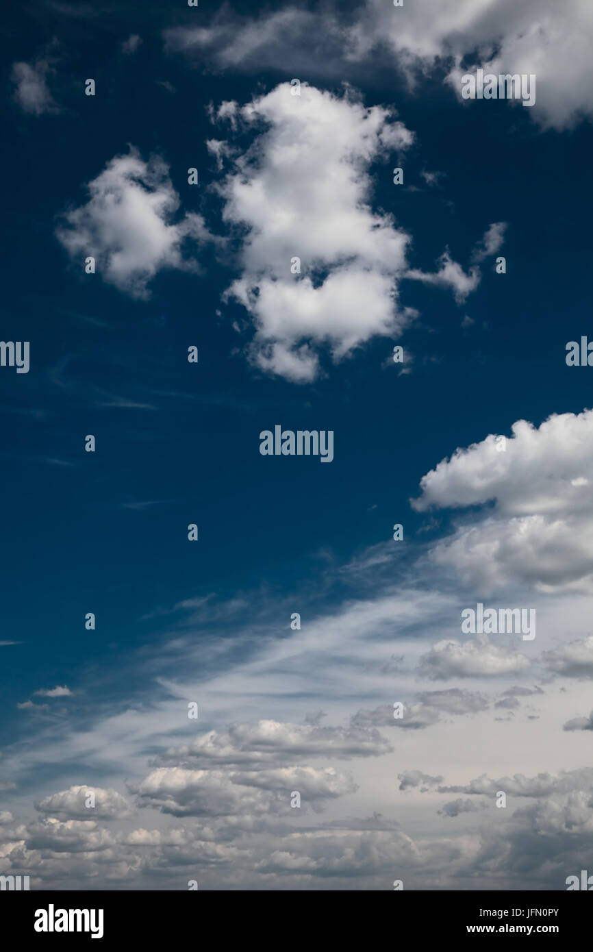vivid blue sky background. day light - Stock Image