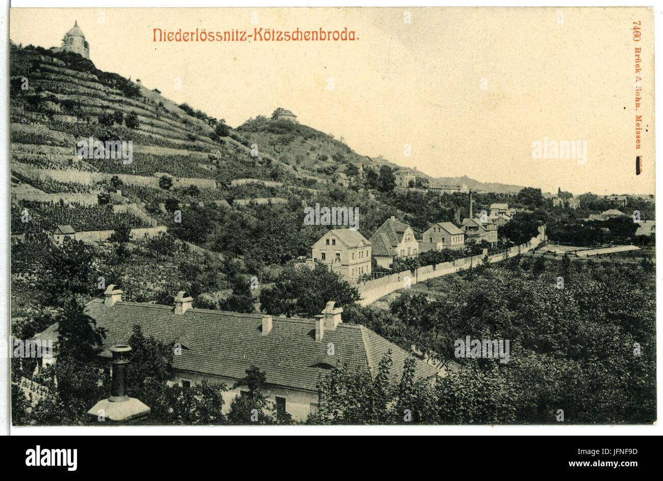 07460-Kötzschenbroda-1906-Niederlößnitz mit Jacobstein-Brück & Sohn Kunstverlag Stock Photo