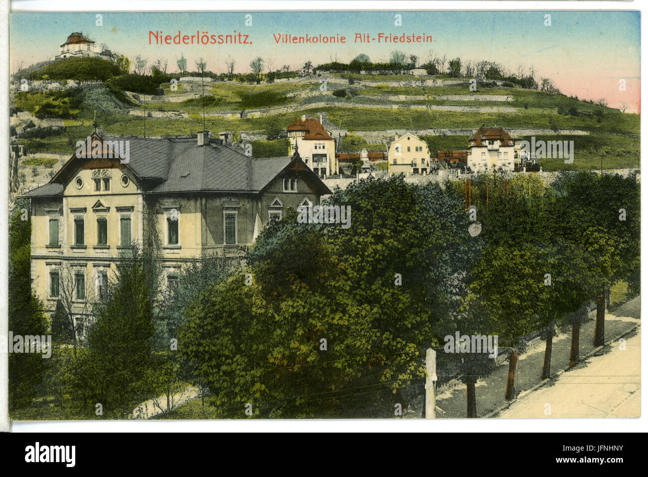 08795-Kötzschenbroda-1907-Villenkolonie Altfriedstein-Brück & Sohn Kunstverlag Stock Photo