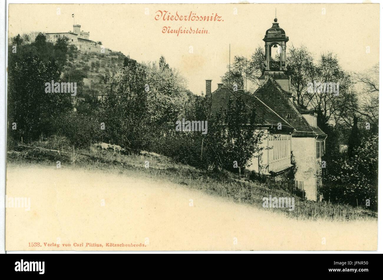 01538-Niederlößnitz-1901-Neufriedstein-Brück & Sohn Kunstverlag Stock Photo
