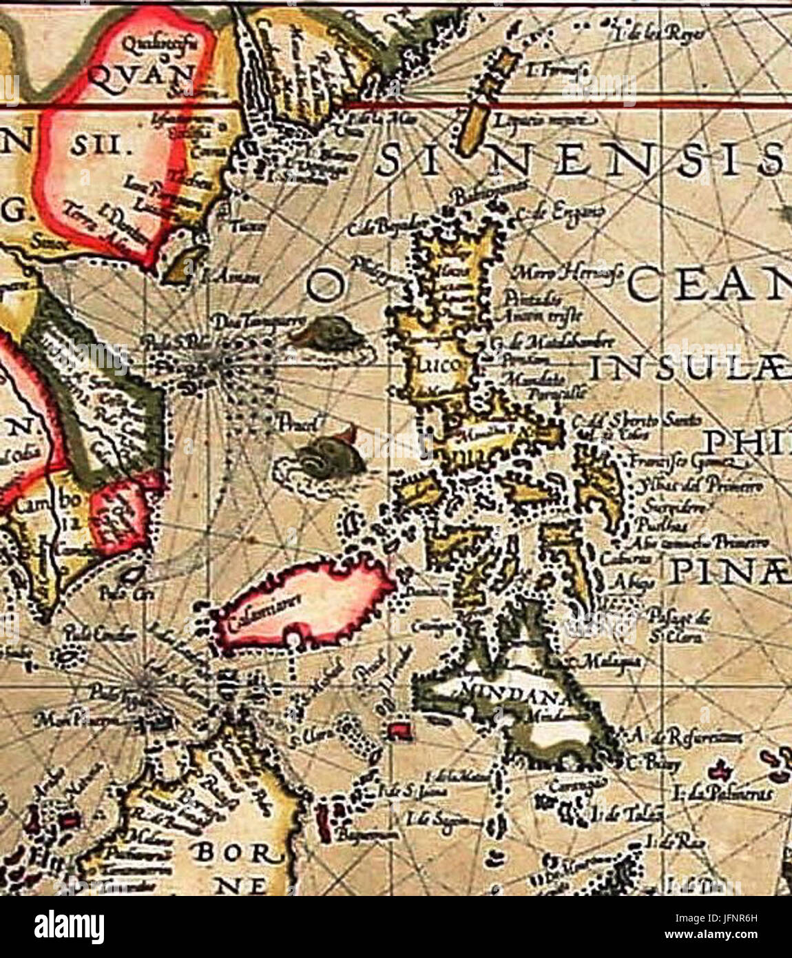 Asia Map Taiwan.1592 Map Of Formosa Taiwan Philippines And Other South East Asia