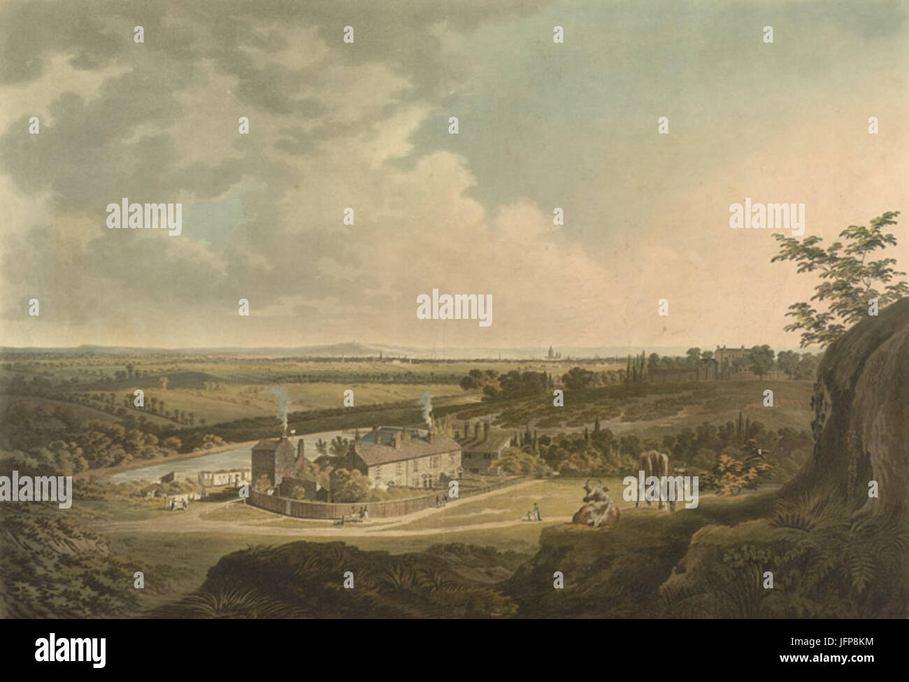A View on Hampstead Heath looking towards London by Francis Jukes Sarjent Stock Photo