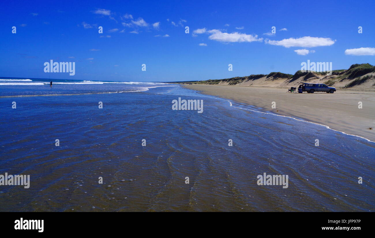 90 Mile Beach,North Island,New Zealand Stock Photo