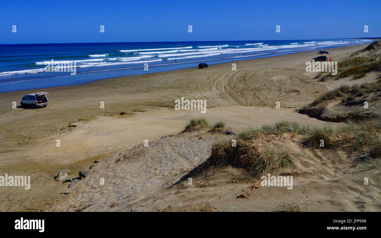 90 Mile Beach,North Island,New Zealand - Stock Image