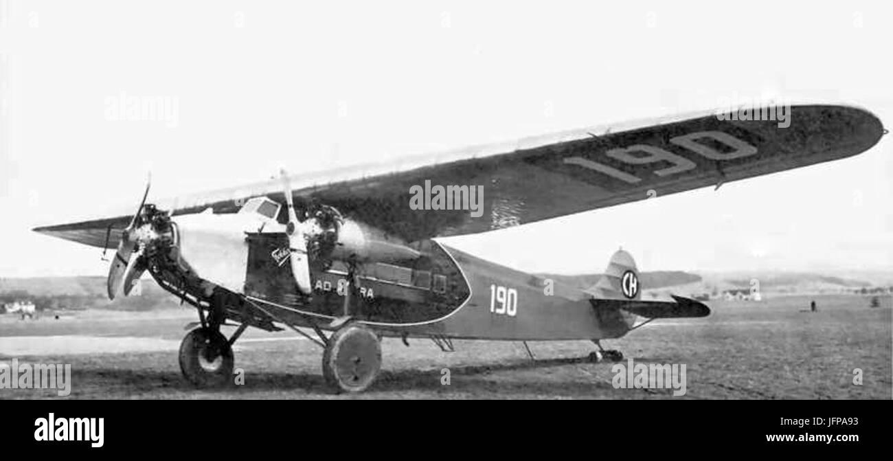 Ad Astra Aero - Fokker F-VII-B 3-m 28CH19029 - Stock Image