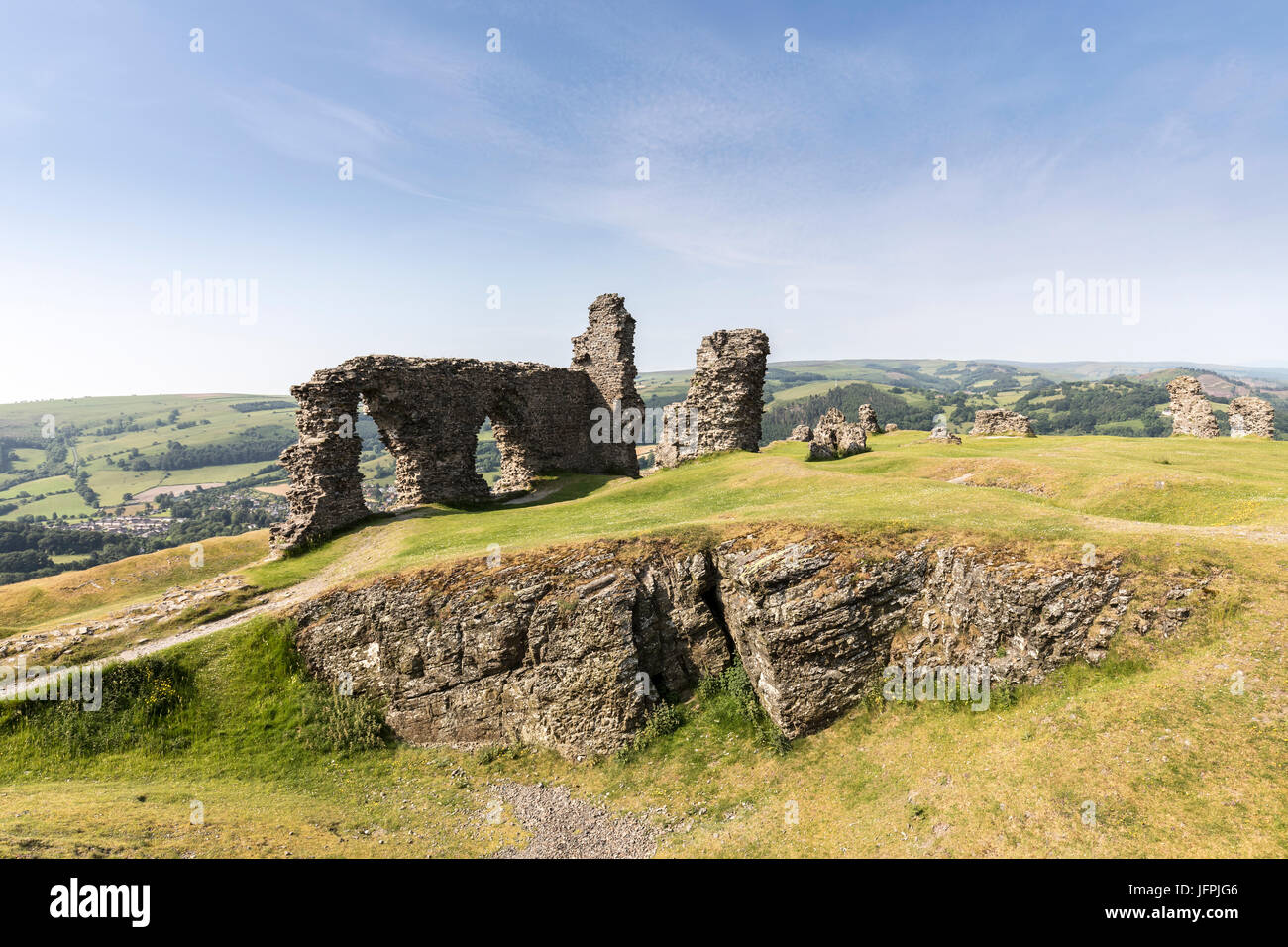 Dinas Bran Castle, Llangollen, Denbighshire, Wales, UK Stock Photo