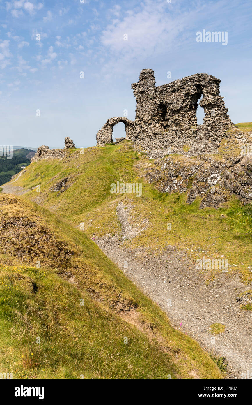 Dinas Bran Castle, Llangollen, Denbighshire, Wales, UK Stock Photo