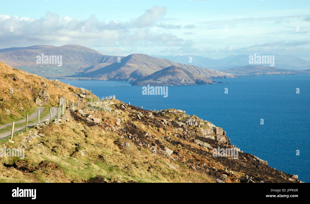 The track to Bolus Head, Iveragh Peninsula, Co Kerry - Stock Image
