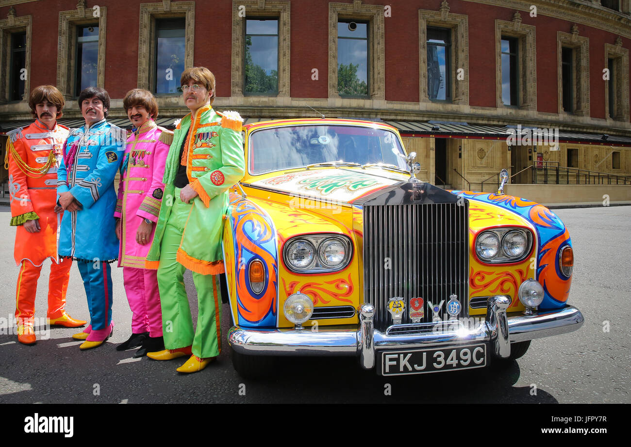 the bootleg beatles attend a photocall with the late john lennon's